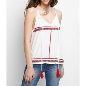 🍩 THML Embroidered & Tassel Swing Tank Top Size M